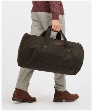 Barbour Explorer Wax Duffle Bag - Olive