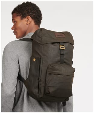 Barbour Essential Wax Backpack - Olive