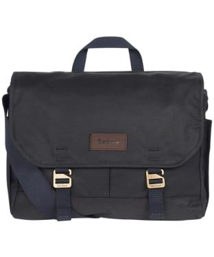 Barbour Essential Wax Messenger Bag - Navy
