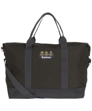 Barbour Highfield Canvas Holdall - Navy / Olive