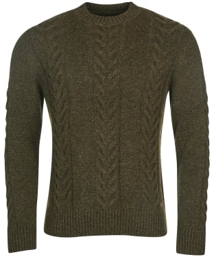 Men's Barbour Essential Cable Knit - Olive Marl