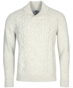 Men's Barbour International Steve McQueen Chase Cable Knit Sweater - Ecru