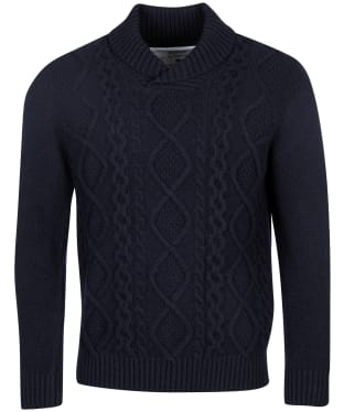 Men's Barbour International Steve McQueen Chase Cable Knit Sweater - Navy