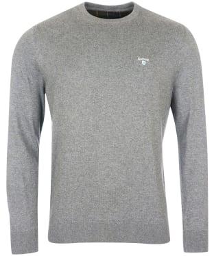Men's Barbour Essential Cotton Cashmere Crew Sweater - Grey Marl