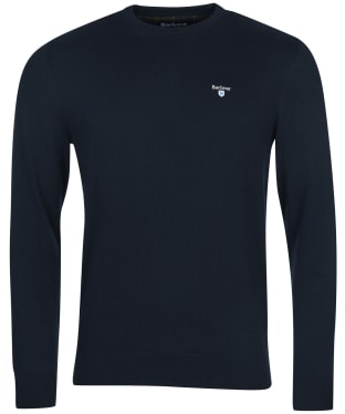 Men's Barbour Essential Cotton Cashmere Crew Sweater - Navy