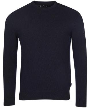 Men's Barbour Essential Diamond Quilted Crew Sweater - Navy