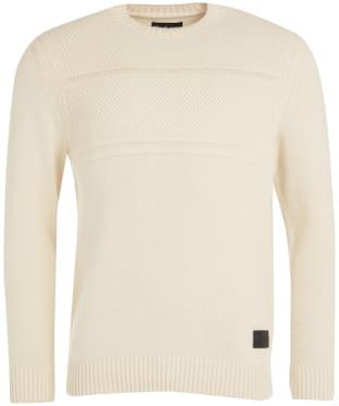 Men's Barbour Gallot Knitted Crew Sweater - Ecru