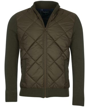 Men's Barbour Arch Diamond Quilted Knit - Olive