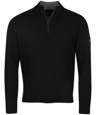 Men's Barbour International Transmission Half Zip - Black