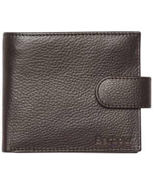 Men's Barbour Amble Zip Wallet - Dark Brown