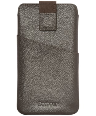Men's Barbour Amble Phone/Card Pouch - Dark Brown