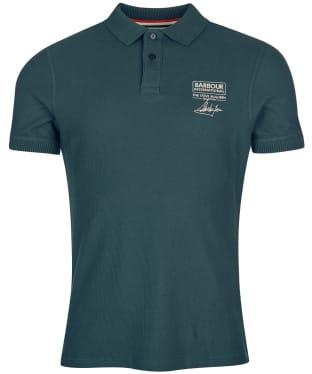 Men's Barbour International Steve McQueen Chad Polo Shirt - Deep Green