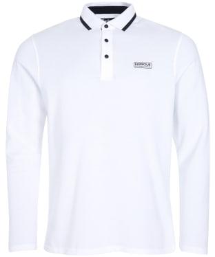 Men's Barbour International Axle Long Sleeve Polo Shirt - White
