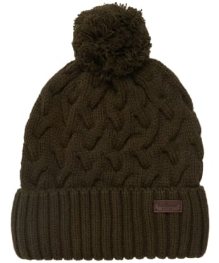 Men's Barbour Gainford Cable Beanie - Olive