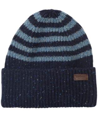 Men's Barbour Radar Stripe Beanie - Navy / Blue