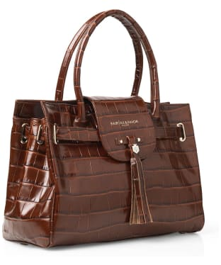 Women's Fairfax & Favor Windsor Handbag - Conker Brown Leather