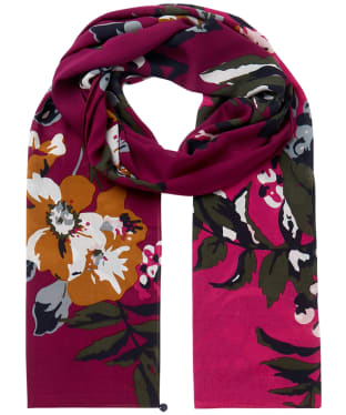 Women's Joules Eco Conway Scarf - Berry Floral