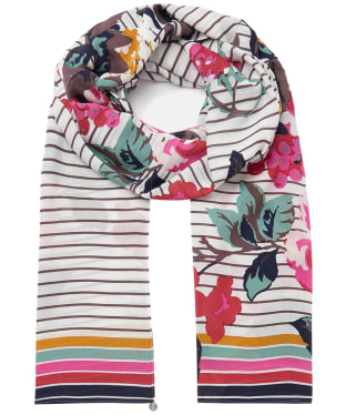 Women's Joules Eco Conway Scarf - Creme Floral