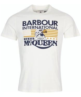 Men's Barbour International Steve McQueen Eagle Tee - Whisper White