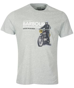 Men's Barbour International Steve McQueen Side Tee - Grey Marl
