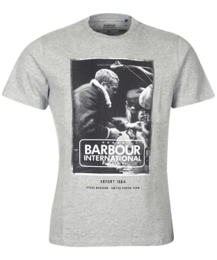 Men's Barbour International Steve McQueen Mechanic Steve Tee - Grey Marl