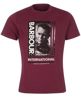 Men's Barbour International Steve McQueen Goggles Tee - Merlot