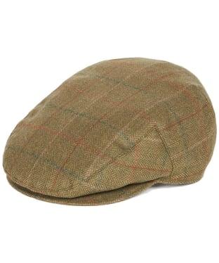 Men's Barbour Moorhen Waterproof Flat Cap - Olive / Brown