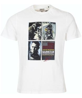 Men's Barbour International Steve McQueen Multi Tee - Whisper White