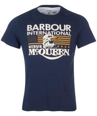 Men's Barbour International Steve McQueen Eagle Tee - Navy