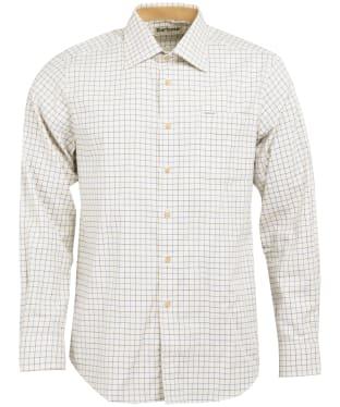 Men's Barbour Field Tattersall Shirt - Classic collar - Navy