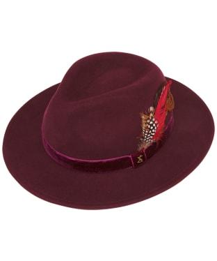 Women's Joules Fedora Hat - Oxblood