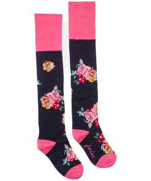 Women's Joules Nina Trussel Socks - Navy Floral