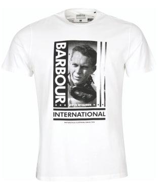 Men's Barbour International Steve McQueen Goggles Tee - Whisper White