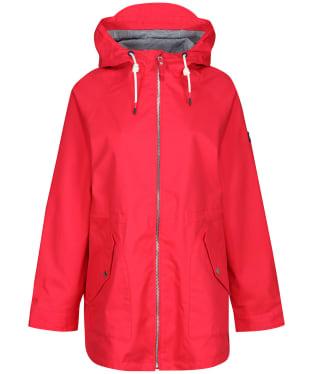 Women's Joules Shoreside Waterproof Coat - Red