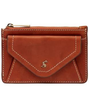 Women's Joules Faybridge Mini Leather Card Holder - Tan