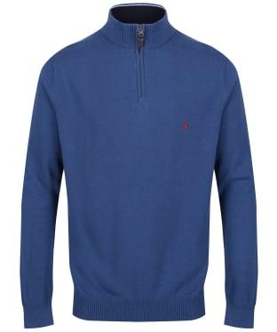 Men's Joules Hillside ¼ Zip Jumper - Ink Blue