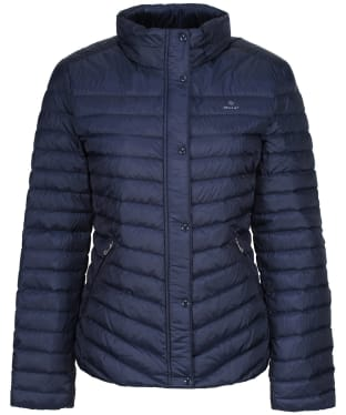 Women's GANT Light Down Jacket - Evening Blue