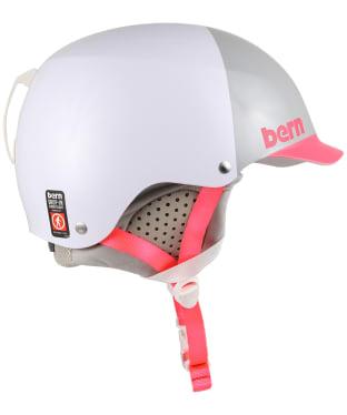 Women's Bern EPS Muse Hat Helmet with Grey Liner - Satin White