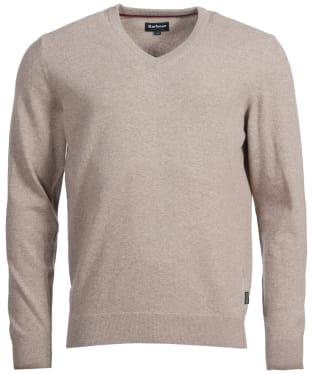 Men's Barbour Harrow V-neck Sweater - Stone