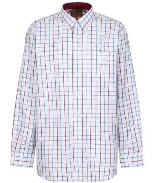 Men's Schoffel Brancaster Shirt - BORDEAUX/DKTLWD