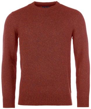 Men's Barbour Tisbury Crew Neck Sweater - Brick Red