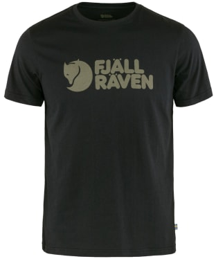 Men's Fjallraven Logo T-Shirt - Black