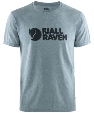 Men's Fjallraven Logo T-Shirt - Uncle Blue Melange