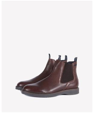 Men's Barbour International Crank Chelsea Boots - Dark Brown