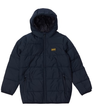 Boy's Barbour International Court Quilted Jacket, 6-9yrs - Black
