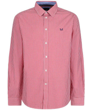 Men's Crew Clothing Micro Gingham Classic Fit Shirt - Red