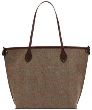 Women's Joules Adeline Tweed Tote Bag - Green Tweed