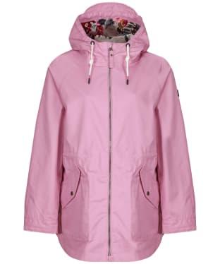 Women's Joules Shoreside Waterproof Coat - Sunset Pink