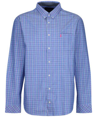 Men's Joules Welford L/S Check Shirt - Blue Multi Check