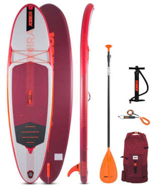 Jobe Mira 10.0 Inflatable Paddle Board Package - Red